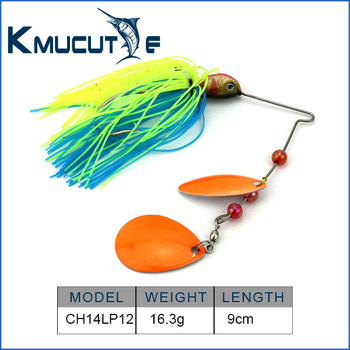 Chentilly CH14LP12 freshwater fishing lure 16.3g high reflective metal blade spinner bait