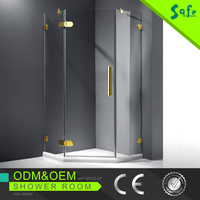 8mm clear glass frameless diamond shape shower screen