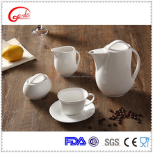 Eco-friendly white porcelain ceramic milk coffee tea pot