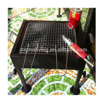 Hot sale custom commercial iron window grill design bbq grills for sale