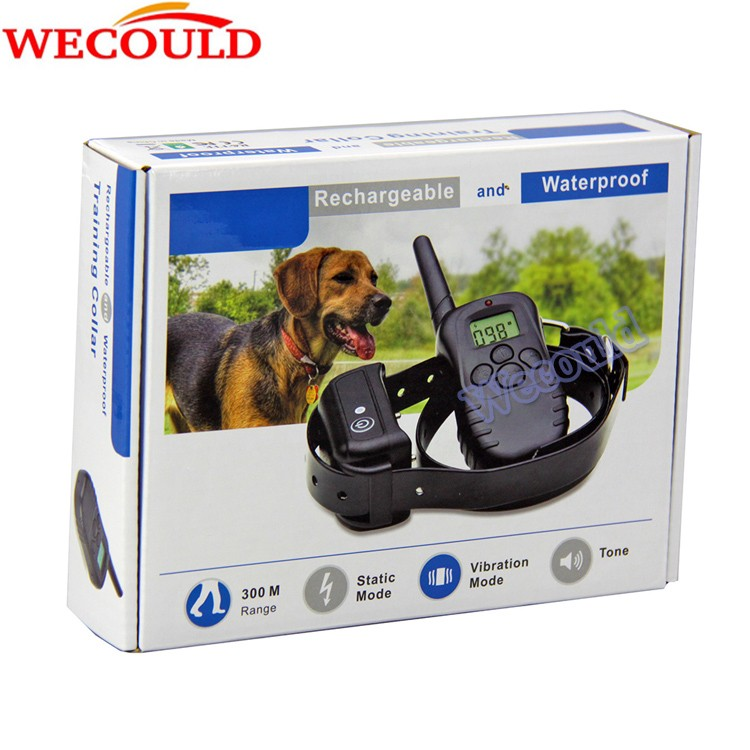 Waterproof And Rechargeable Remote Dog Training Collar For Dogs Vibration and Shock Collar