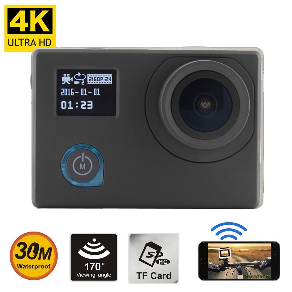 Shenzhen Factory Novatek 96660 IMX 078 sensor 2.0 inch plus 0.66 inch dual screen wifi 4k sports action camera