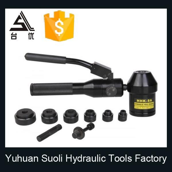 Hydraulic Hand Punch Driver / Knockout Punching Tool / Steel Hole Puncher Tools Set