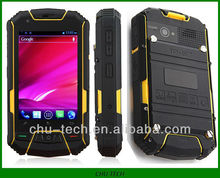 "Newest M6 outdoor tri-proof smartphone IP67 MTK6577 Daul core Android 4.0 3.5"" 8MP 3000mAh with compass"