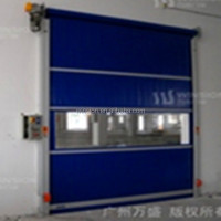 High speed sliding door roll up garage door
