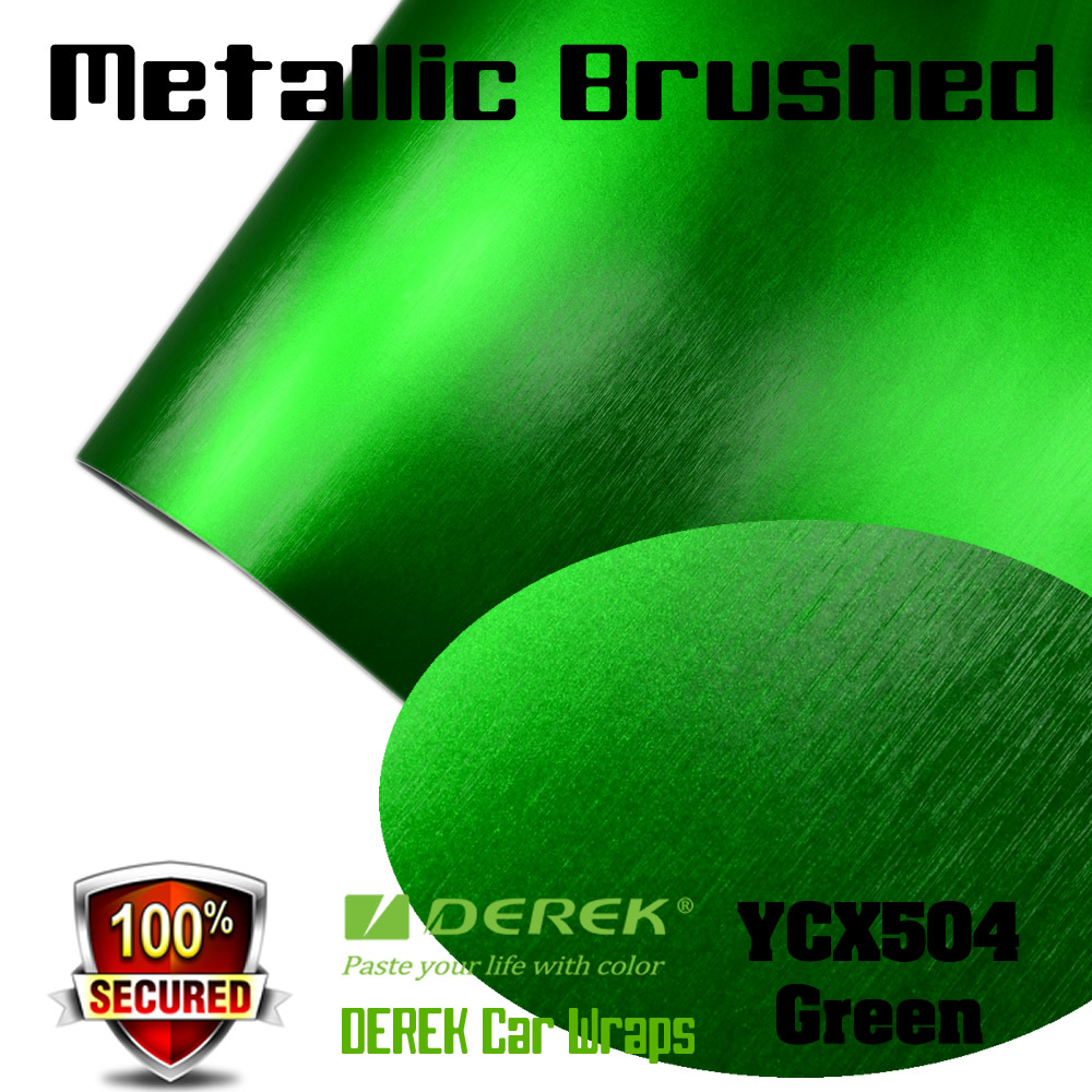 High quality Green Matte Chrome/Metallic Brushed Wrap vinyl Film For Car Body
