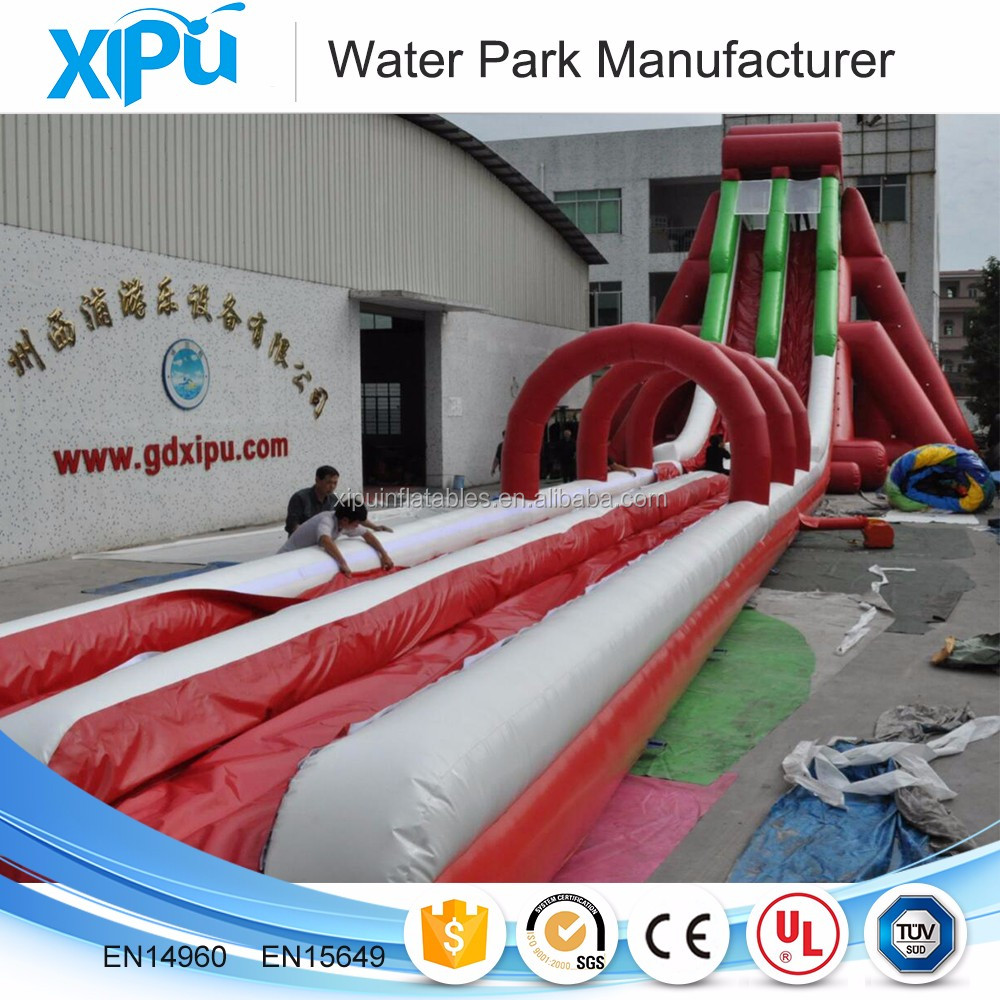 Custom large above ground pool water slide inflatable pool water slide for sale