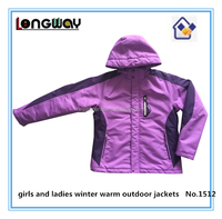 girls and ladies winter warm outdoor padded jackets
