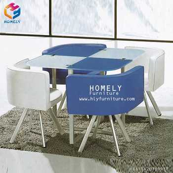 Restaurant leisure glass dining table sets
