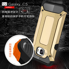 2 In 1 Rugged shockproof Hard phone case cover for samsung galaxy c5