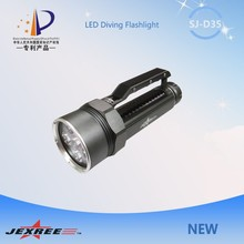 Jexree SJ-D035 60w 5000 lumen led flashlight cree xml t6 led diving torch rechargeable torch