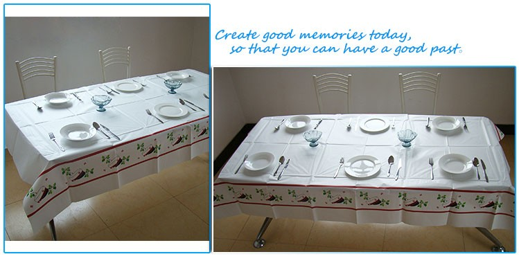 Workable Price Gravure Printing Castle Cartoon Woodpulp Table Cloth