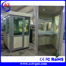 Colorbond steel Prefab tiny container security guard house cabin / guard Container office house for parking toll