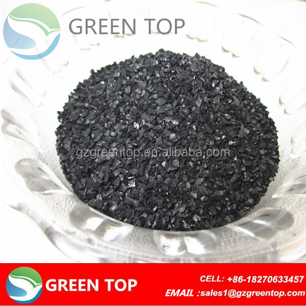 Bulk nut shell based activated carbon for photovoltaic cells use