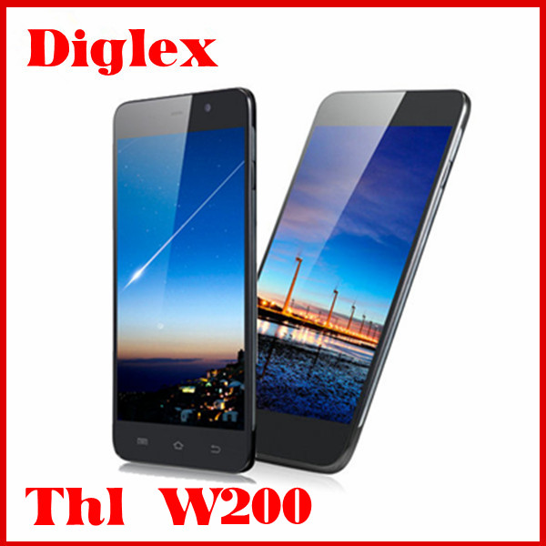 Cheap 5 Inch Smart Phone thl w200 mtk6589t quad core 1GB RAM 8GB ROM 8MP mobile phone wholesale