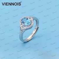 Blue Topaz 925 Sterling silver gemstone rings