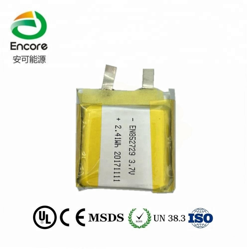 MSDS ,UL, CE certificated Lithium ion 3.7V 650mAh Lithium Polymer 852729 lipo rechargeable battery