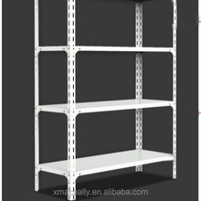 Racking retail grocery store display rack angle steel slotted bolt less rivet shelving