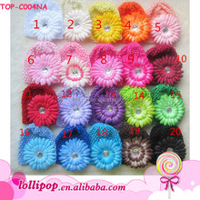 Wholesale lovely crochet beanies hand made knitted beanies baby flower diamond winter hat