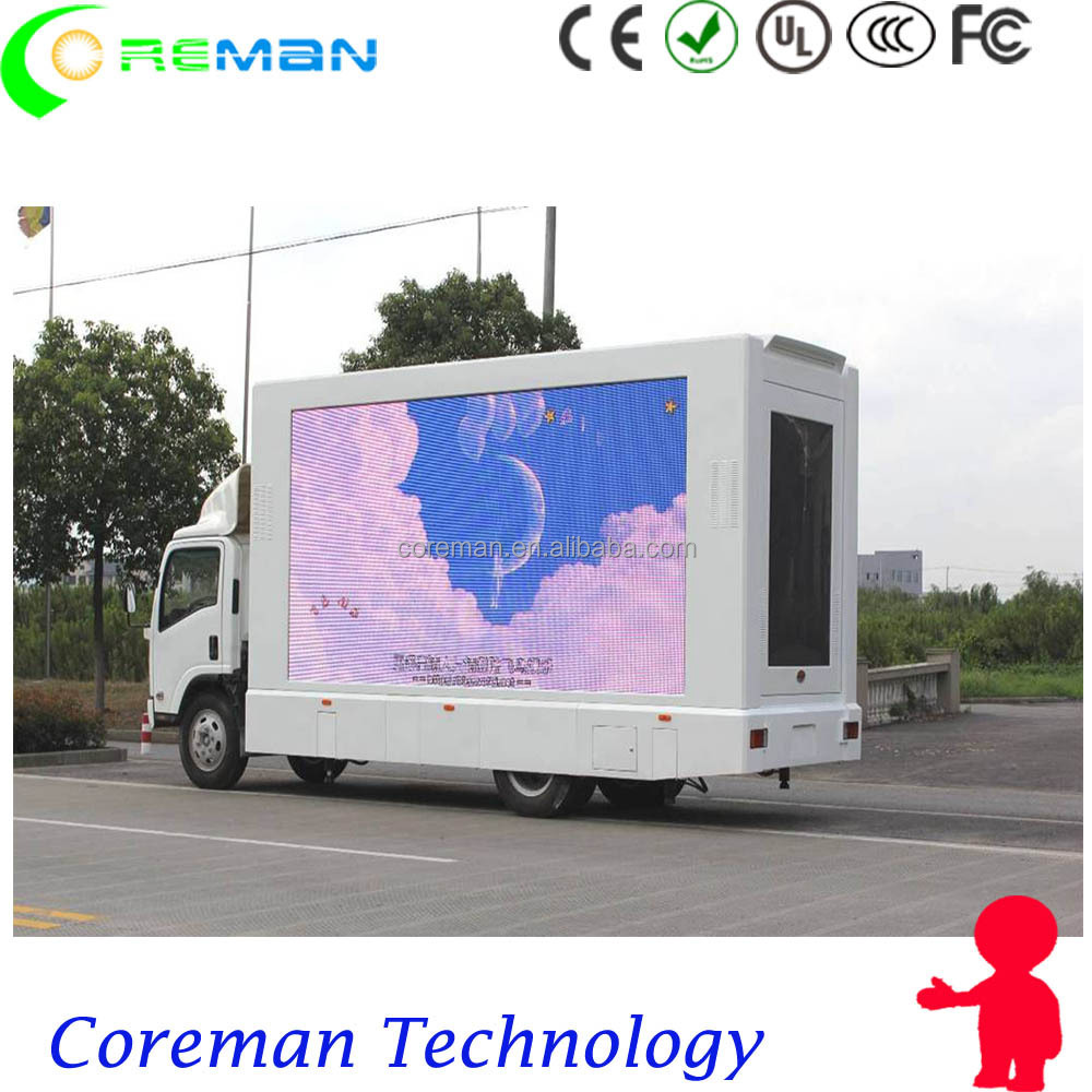 solar panels trailer led display board p5 / mobile led outdoor p6 led truck mounted panel sign