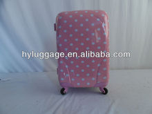 Latest styles for ABS&PC Travel Luggage/polka dot luggage wholesale