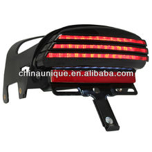 Tri-Bar Fender LED License Plate Bracket Tail Light For 2008-2012 Harley Davidson Dyna Fat Bob
