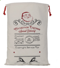 2017 Canvas Bag Santa Sack for Presents and Gifts cheap price moose printed cotton christmas gift bag wholesale
