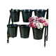 BDD-FLW77 2 tier 4 bucket stand mobile floral display stands iron flower pot stand