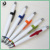 JXC143 hot-selling bulk click advertising white plastic pen with logo