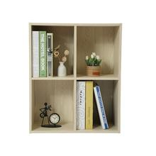 Natural Bamboo Wooden Bookcase Bedside Book <strong>Shelf</strong> Modern