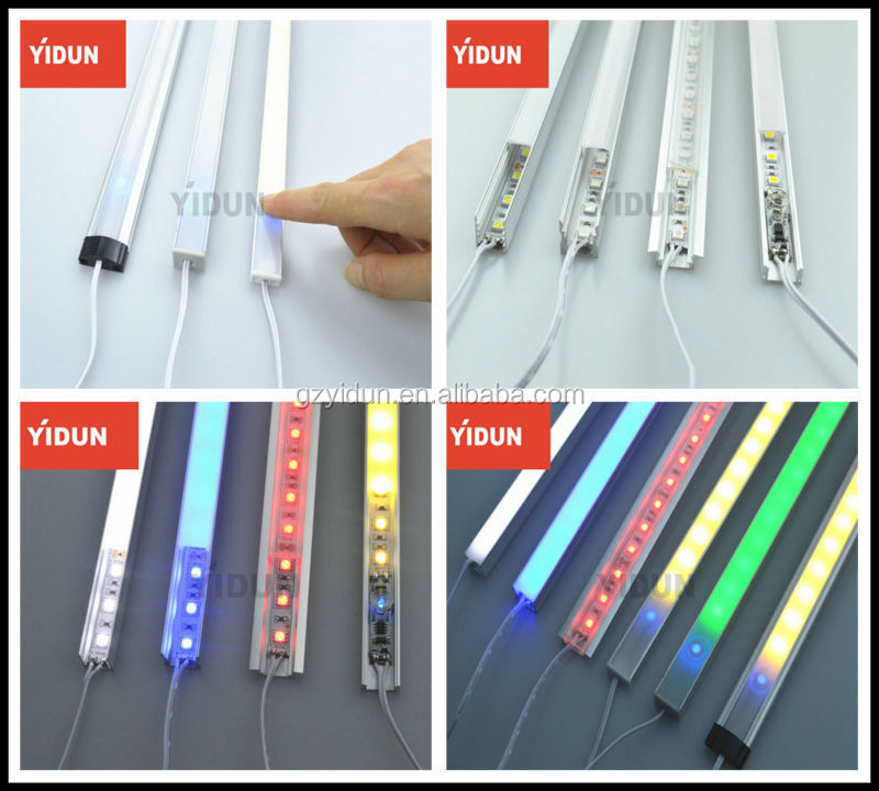Alibaba golden supplier aluminum led edge lit profile for LED strip illumination