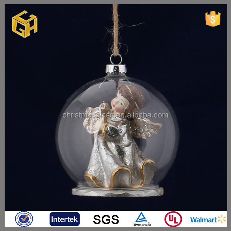 Canada clear solid christmas ornaments glass ball with