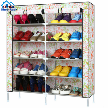 2018 New Design shoes organizers 8 layer shoe space saving tower rack stand metal black