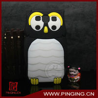 Penguin shape 3D stereoscopic silicon mobile phone case for samsung galaxy s3 i9300