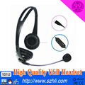 Plug-N-play call center telephone headset with USB plug & noise canceling microphone