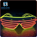 Hot Sale! High Luminance flashing light up Style EL Wire Glow Sunglasses , led sunglasses