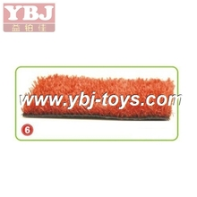 special red color Artificial turf artificial grass for playground, home backyard