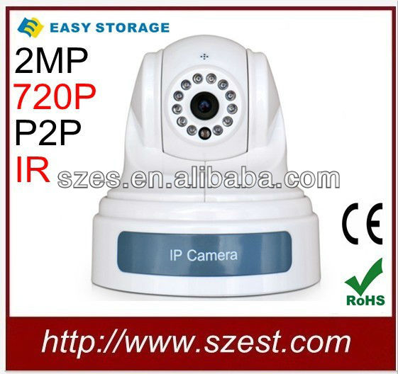 720P P/T Night Vision Network Wireless IP Camera