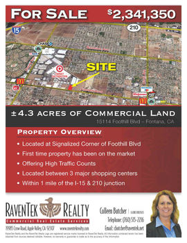 Rare Foothill Frontage Land
