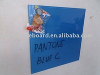 Blue Tempered Glass Magnetic Memo Board