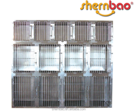 Shernbao KA-509 Round Cornered Pet Dog Cage Bank Stainless Steel Modular Pet Kennels