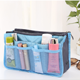 China market new fashion felt purse organizer insert Travel Waterproof Cosmetic Makeup Bag in Bag