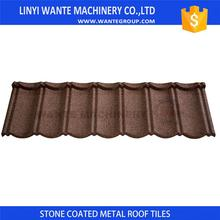 Wante bond roof tiles using granulated stone chips to give roof additional protection