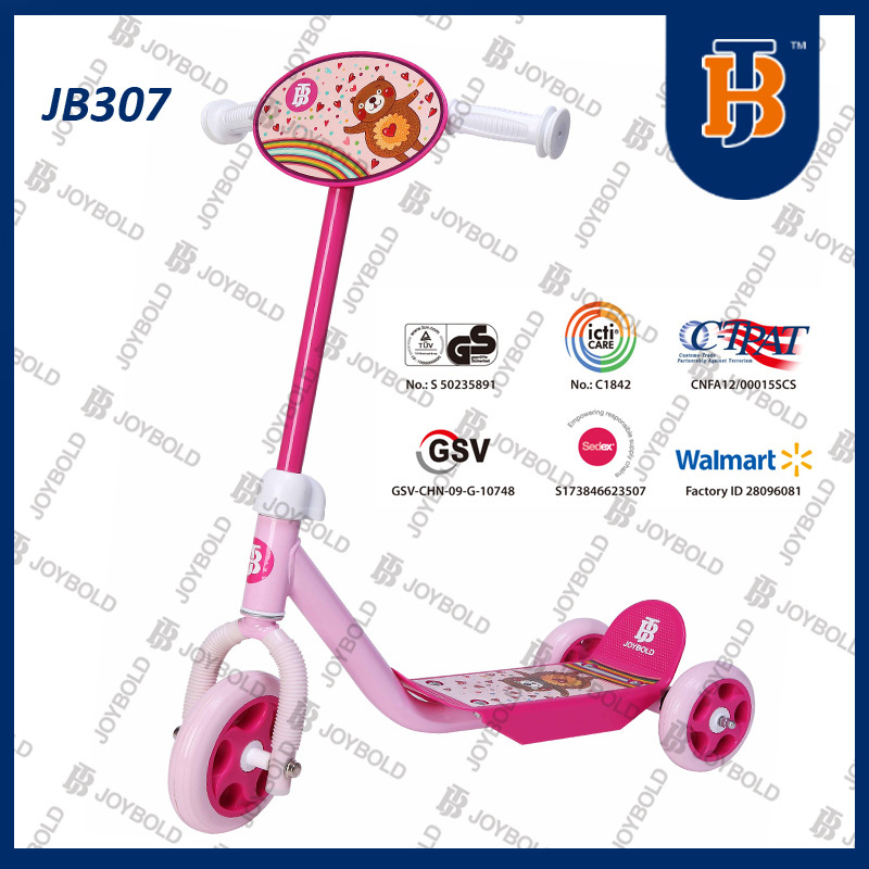 2015 Cheap 3 Wheel Scooter Suitcase, Sym Scooter For Kids Pink Color JB307