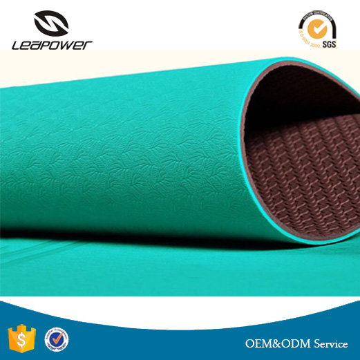 2017 New Style Eco Friendly Non Slip Tasteless Harmless TPE Yoga Mat