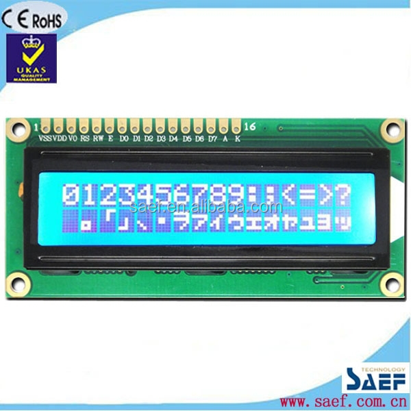 Mini size character LCD 16x2 with RGB led backlight new product 1602 cheap lcd module