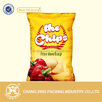 Direct supplier heat seal french fries packaging bag/ potato chips/ snack food packing bag