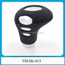 Universal Car Truck Sport Manual MT Gear Black Leather Shift Knob Lever Cover