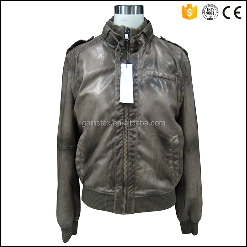 2016 new design man leather jacket OEM/ODM for brand series