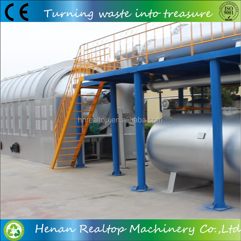 Popular in Europe high oil yield tyre recycle carbon black machine